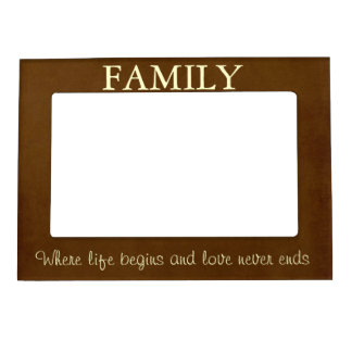 Brown/cita poner crema de la familia foto de imanes