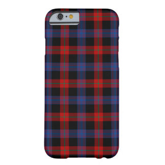 Brown Clan Royal Blue and Red Tartan Barely There iPhone 6 Case