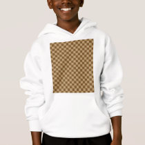 Brown Classic Checkerboard by Shirley Taylor Hoodie
