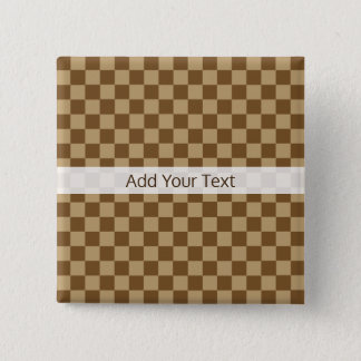 Brown Classic Checkerboard by Shirley Taylor Pinback Button