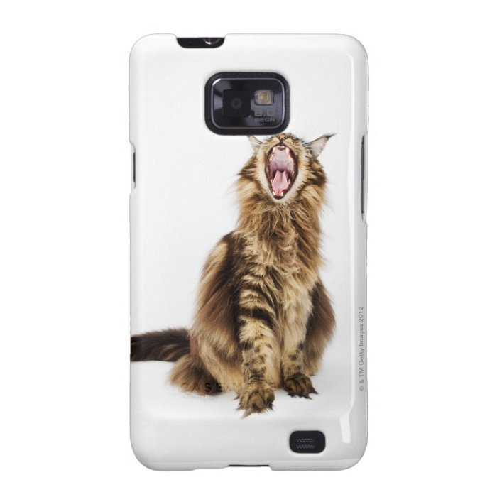 Brown Classic Main Coon Tabby Galaxy S2 Case