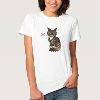 Brown Classic Tabby And White Maine Coon Cat Love Shirt