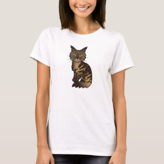 Brown Classic Tabby Maine Coon Cat T-Shirt