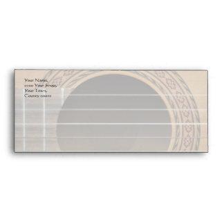 Brown classical guitar photo envelope