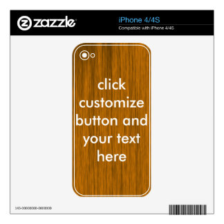 brown close‐grained wood texture iPhone 4 skins