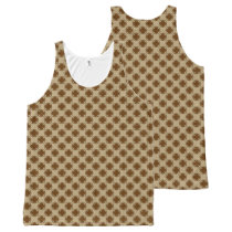 Brown Clover Ribbon All-Over-Print Tank Top