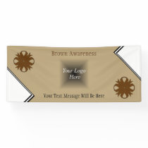 Brown Clover Ribbon Banner