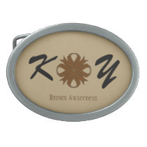 Brown Clover Ribbon Belt Buckle