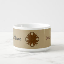 Brown Clover Ribbon by Kenneth Yoncich Bowl