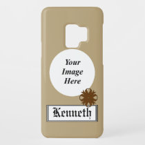 Brown Clover Ribbon by Kenneth Yoncich Case-Mate Samsung Galaxy S9 Case