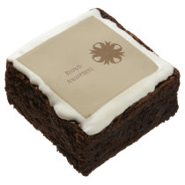 Brown Clover Ribbon by Kenneth Yoncich Chocolate Brownie