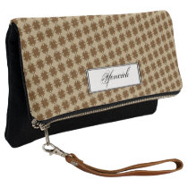 Brown Clover Ribbon by Kenneth Yoncich Clutch