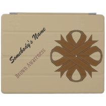Brown Clover Ribbon by Kenneth Yoncich iPad Smart Cover