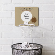 Brown Clover Ribbon by Kenneth Yoncich Mini Basketball Backboard