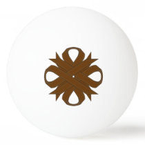 Brown Clover Ribbon by Kenneth Yoncich Ping-Pong Ball