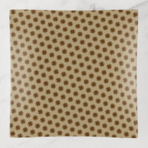 Brown Clover Ribbon by Kenneth Yoncich Trinket Trays