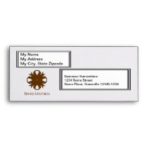 Brown Clover Ribbon Envelope