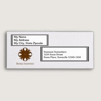 Brown Clover Ribbon Envelope
