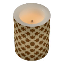 Brown Clover Ribbon Flameless Candle