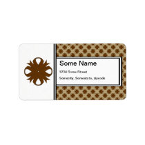 Brown Clover Ribbon Label