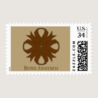 Brown Clover Ribbon Postage