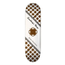 Brown Clover Ribbon Skateboard Deck