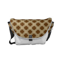 Brown Clover Ribbon Small Messenger Bag