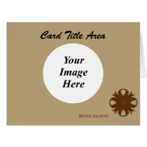 Brown Clover Ribbon Template
