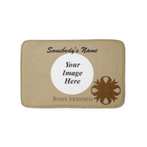 Brown Clover Ribbon Template Bath Mat