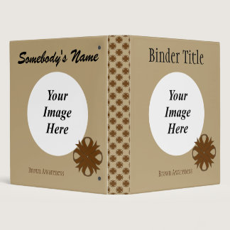 Brown Clover Ribbon Template Binder