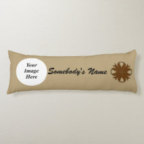 Brown Clover Ribbon Template Body Pillow