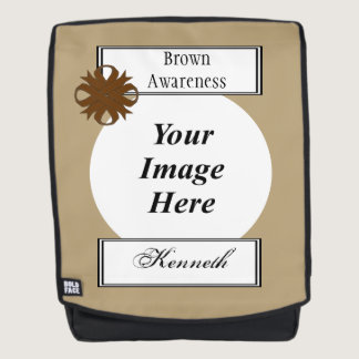 Brown Clover Ribbon Template by Kenneth Yoncich Backpack