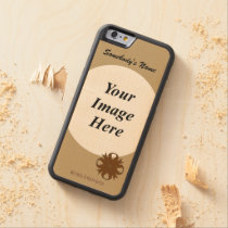 Brown Clover Ribbon Template by Kenneth Yoncich Carved Maple iPhone 6 Bumper Case