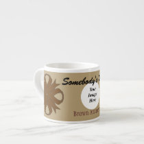 Brown Clover Ribbon Template by Kenneth Yoncich Espresso Cup