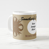 Brown Clover Ribbon Template by Kenneth Yoncich Giant Coffee Mug