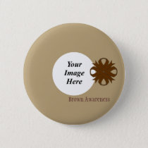 Brown Clover Ribbon Template by Kenneth Yoncich Pinback Button