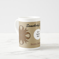 Brown Clover Ribbon Template By Kenneth Yoncich Tea Cup