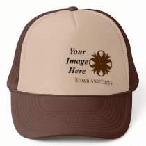 Brown Clover Ribbon Template by Kenneth Yoncich Trucker Hat