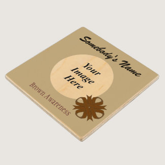 Brown Clover Ribbon Template by Kenneth Yoncich Wood Coaster