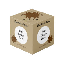 Brown Clover Ribbon Template Cube