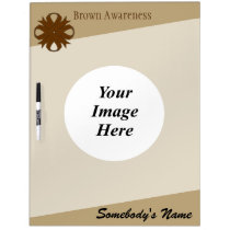 Brown Clover Ribbon Template Dry-Erase Board