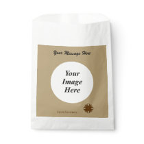 Brown Clover Ribbon Template Favor Bag
