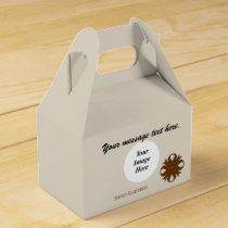 Brown Clover Ribbon Template Favor Box