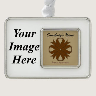 Brown Clover Ribbon Template (H-I) Ornament