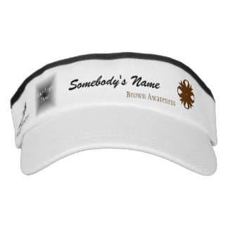 Brown Clover Ribbon Template Headsweats Visor