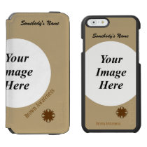Brown Clover Ribbon Template iPhone 6/6s Wallet Case