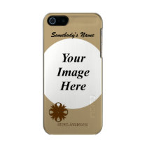 Brown Clover Ribbon Template Metallic iPhone SE/5/5s Case