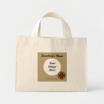Brown Clover Ribbon Template Mini Tote Bag