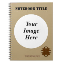 Brown Clover Ribbon Template Notebook