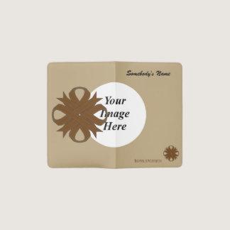 Brown Clover Ribbon Template Pocket Moleskine Notebook